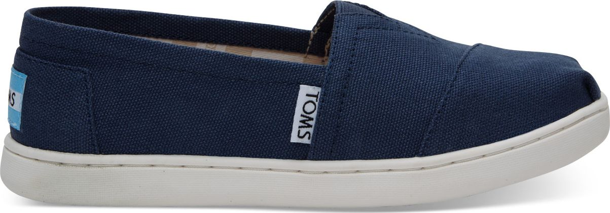 TOMS Canvas Junior's Core Alpargata Navy 34