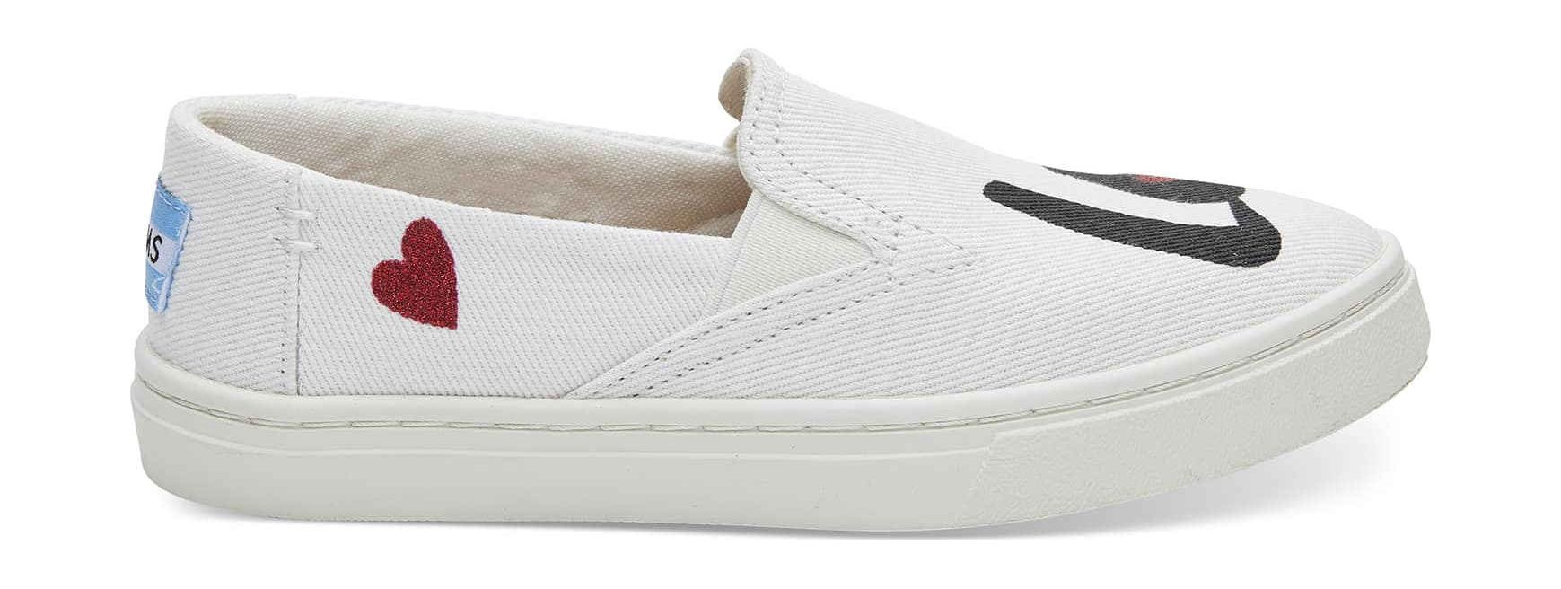 TOMS Love Junior's Luca Slipon White Denim 32,5