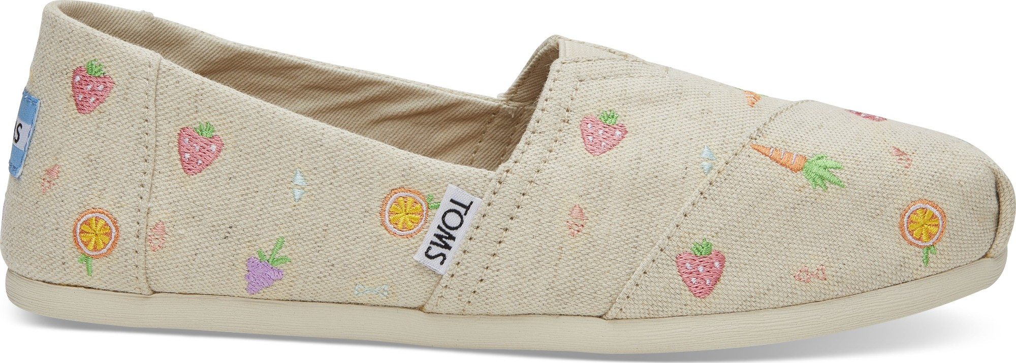 TOMS Farmers Market Embroidery Women's Alpargata Natural 38