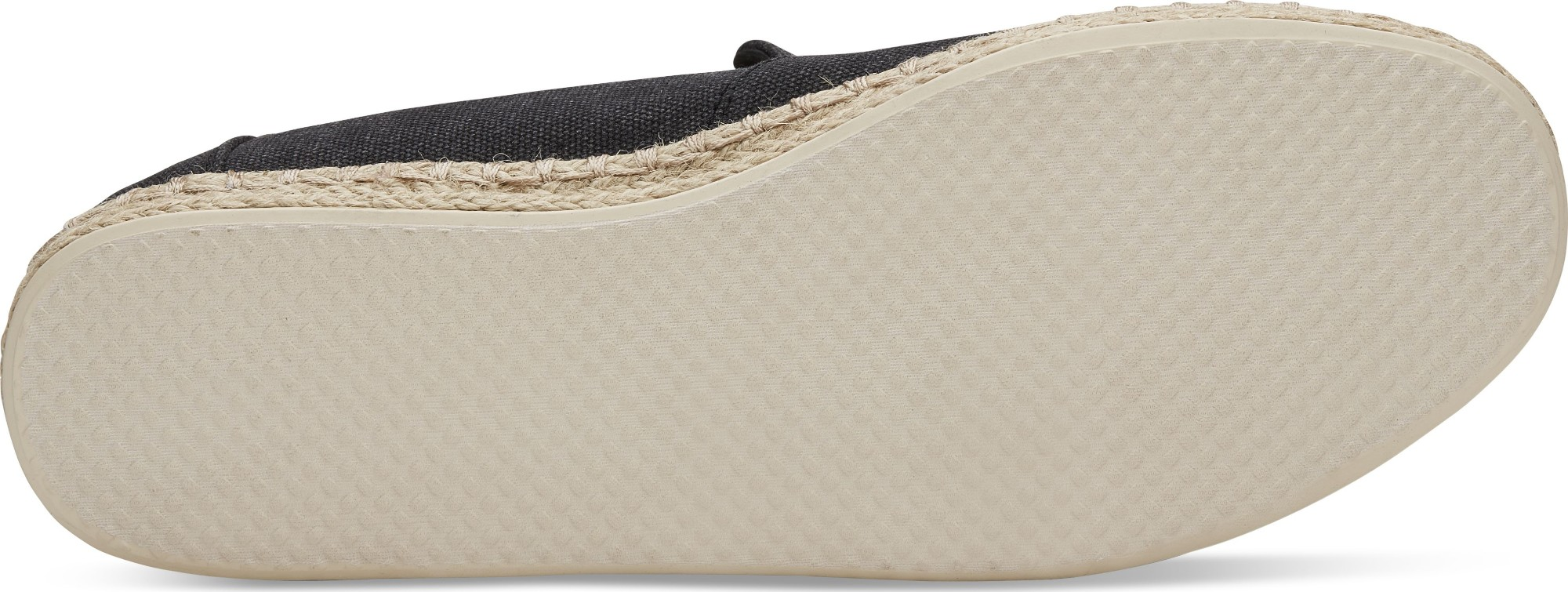 16f4e3ed420 Previous. TOMS Washed Canvas Men s Deconstructed Alpargata Rope Black ...