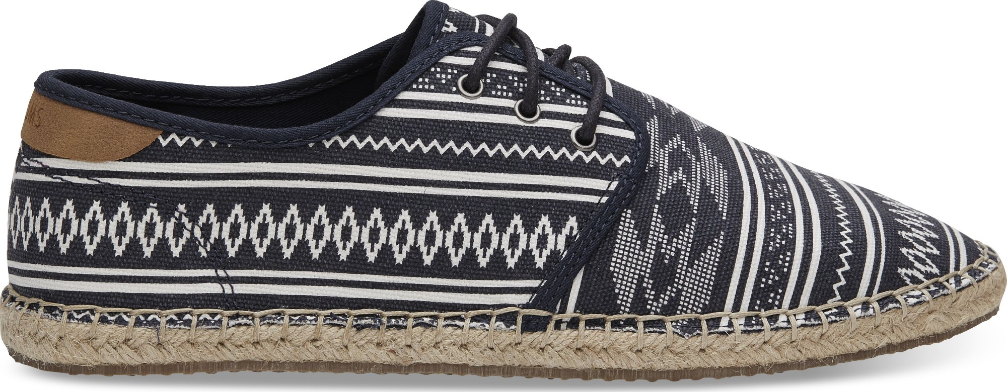 TOMS Ethnic Tribal Men's Diego Sneaker Navy 44