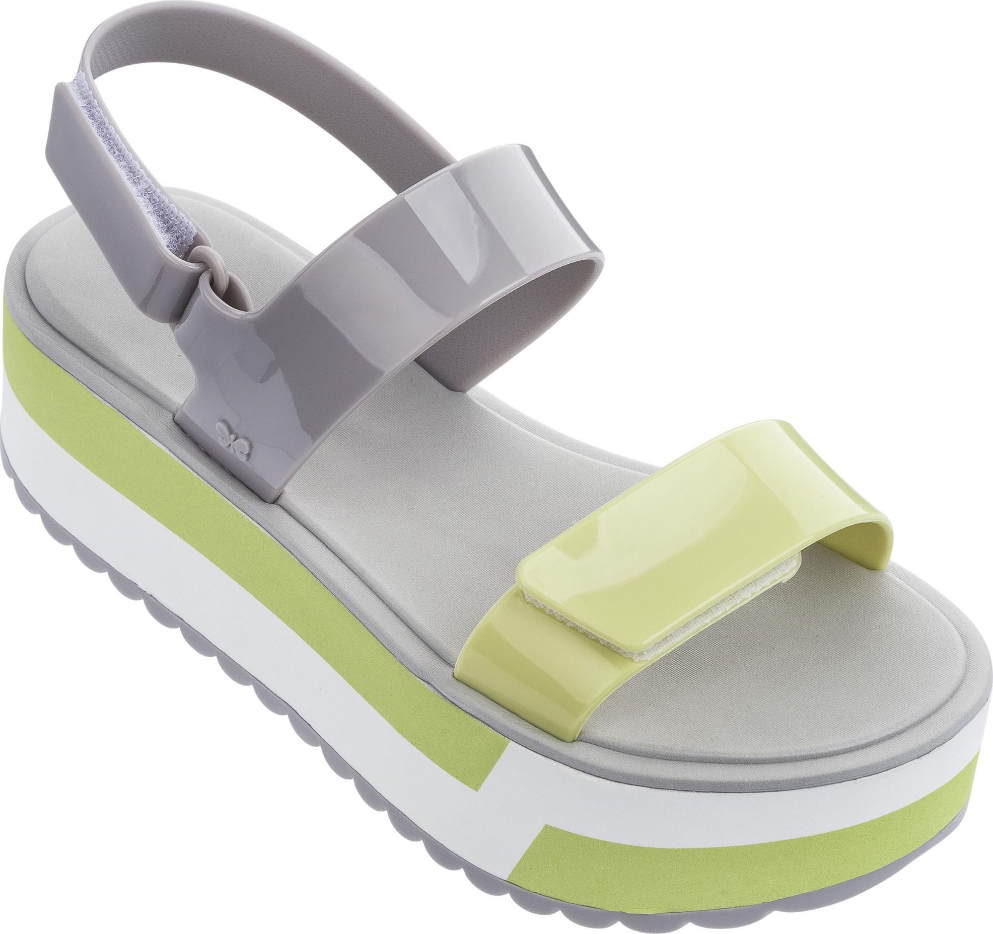 ZAXY Slash Plat Sandal Grey/Yellow 39