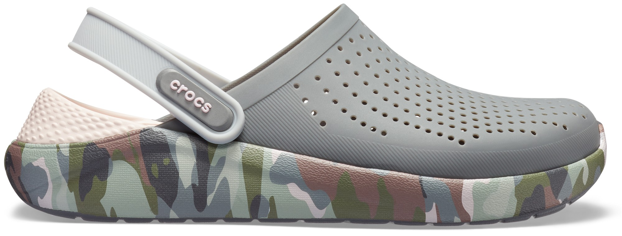 Crocs™ LiteRide Graphic Clog Charcoal/Camo 41