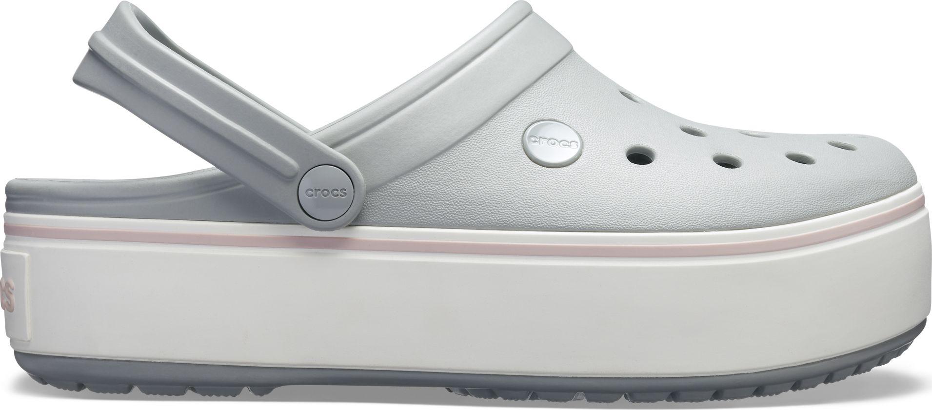 Crocs™ Crocband Platform Clog Light Grey/Rose 39,5