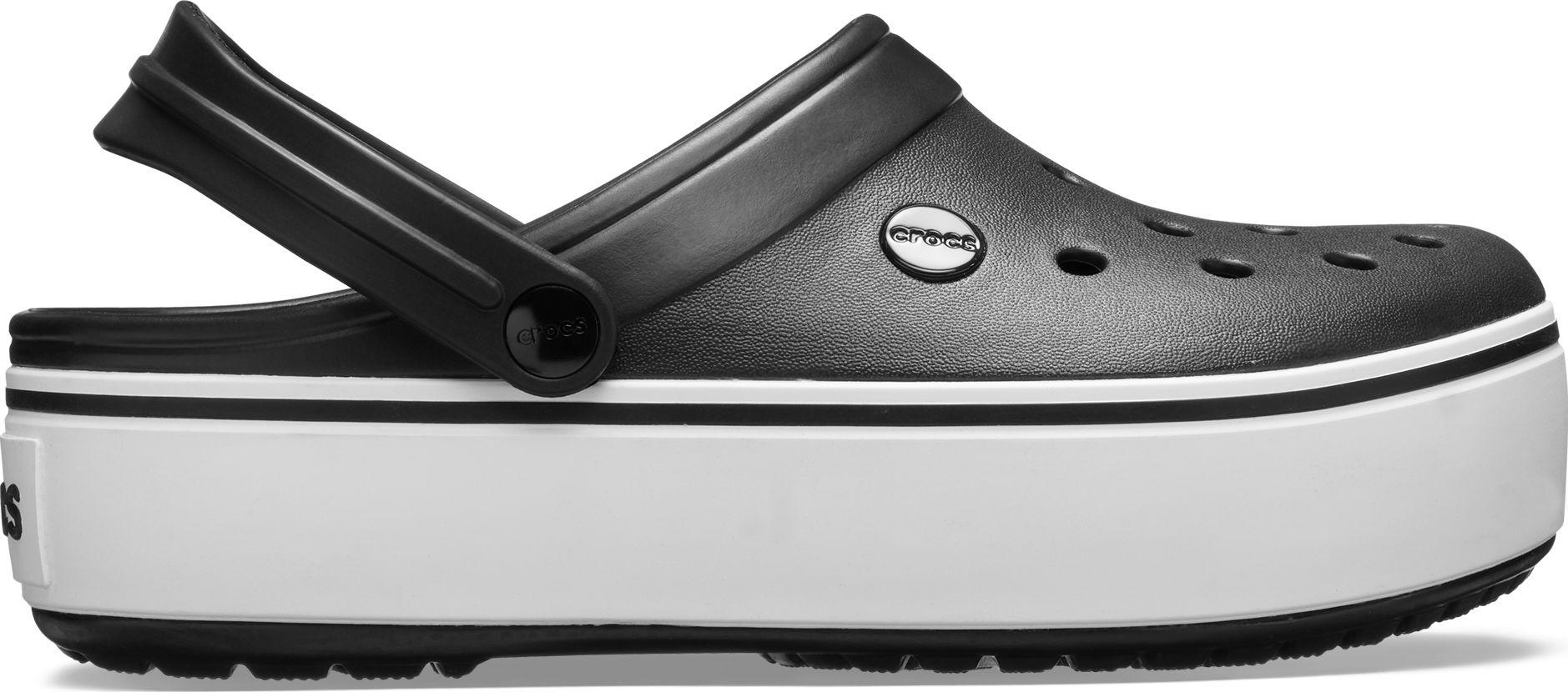 Crocs™ Crocband Platform Clog Black/White 37,5