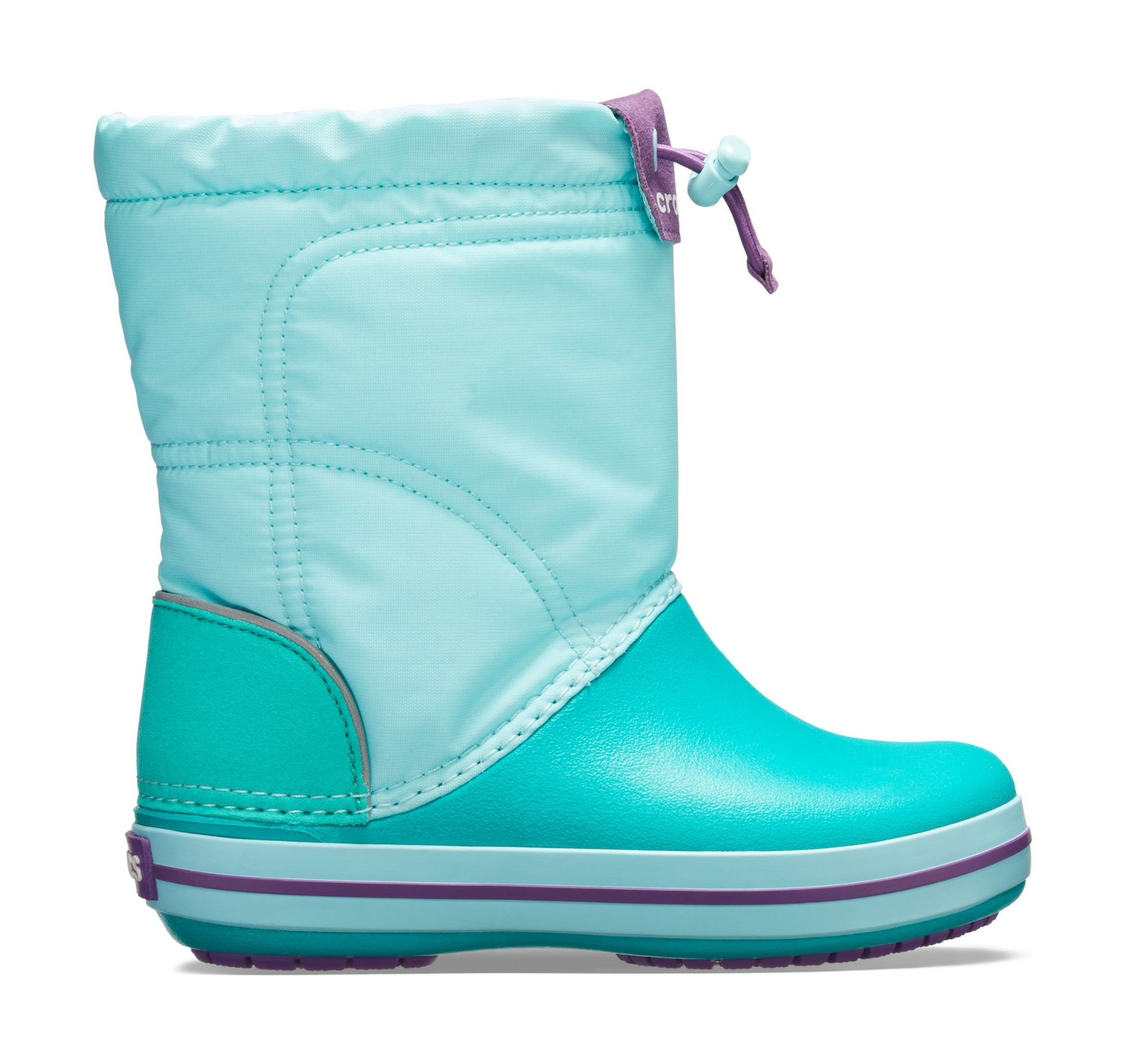 Crocs™ Kids' Crocband Lodgepoint Boot Ice Blue/Tropical Teal 28
