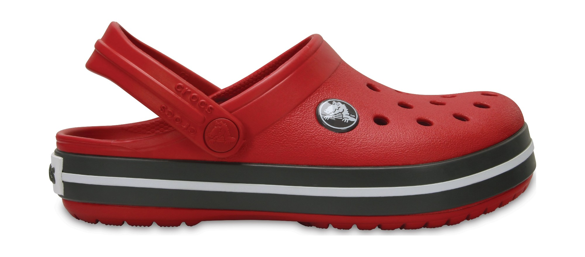 Crocs™ Kids' Crocband Clog Pepper/Graphite 27