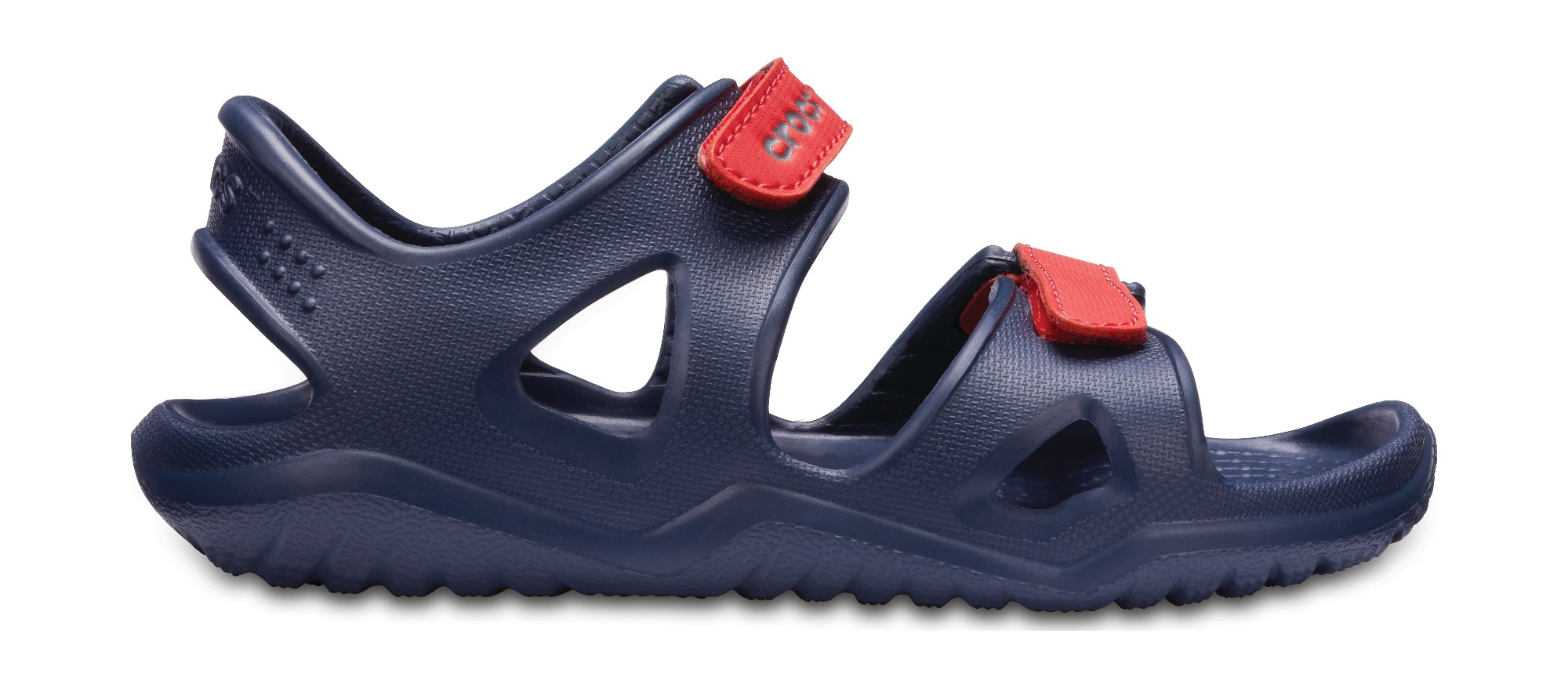 Crocs™ Kids' Swifwater River Sandal Navy/Flame 28
