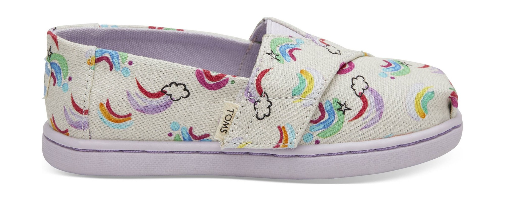 TOMS Jumping Rainbows Kid's Alpargata White 28,5