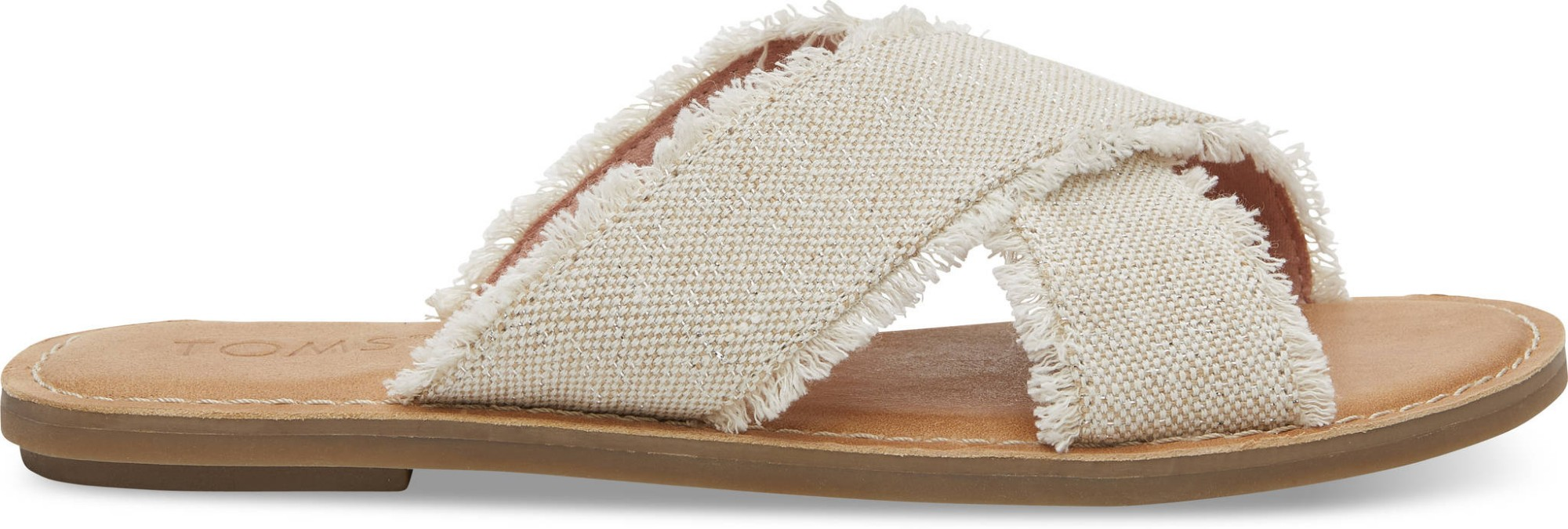 TOMS Metallic Jute Women's Viv Sandal Natural 37,5