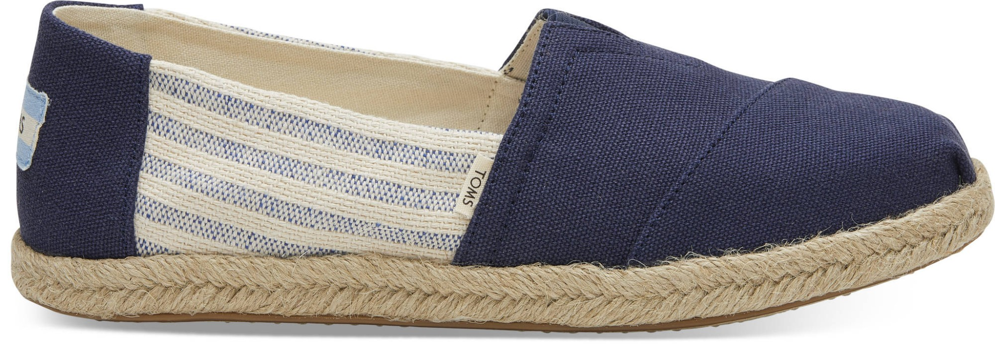 TOMS Canvas Ivy League on Rope Women's Alpargata Navy 38,5