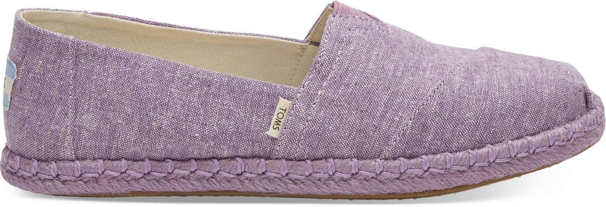 TOMS Chambray on Rope Women's Alpargata Rose Violet 38