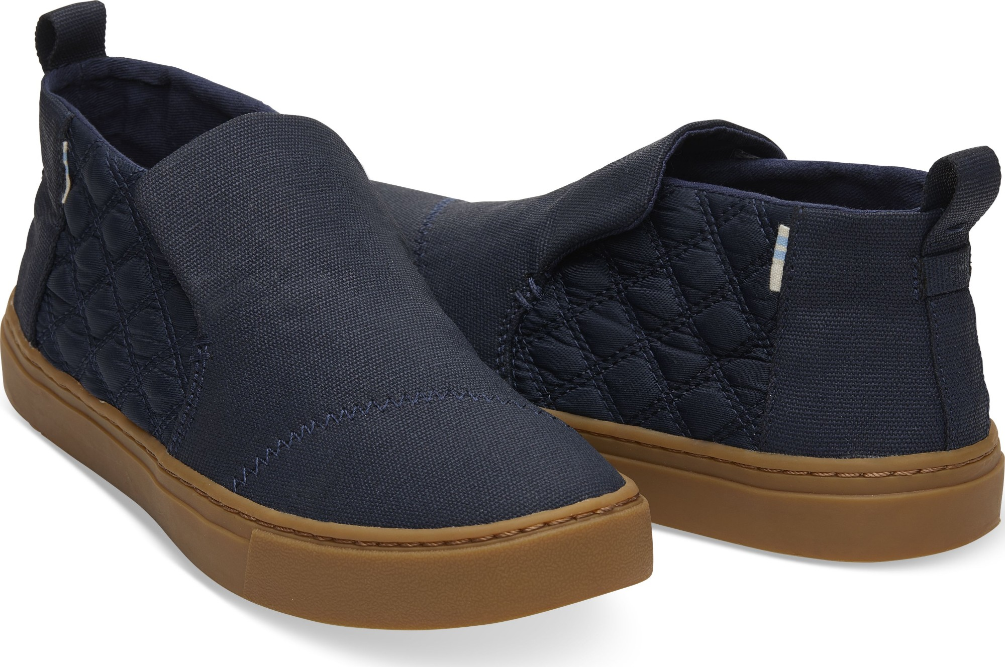 8a46ed528117 Previous. TOMS Canvas Quilted Nylon Women s Paxton Slipon Navy Textural ...