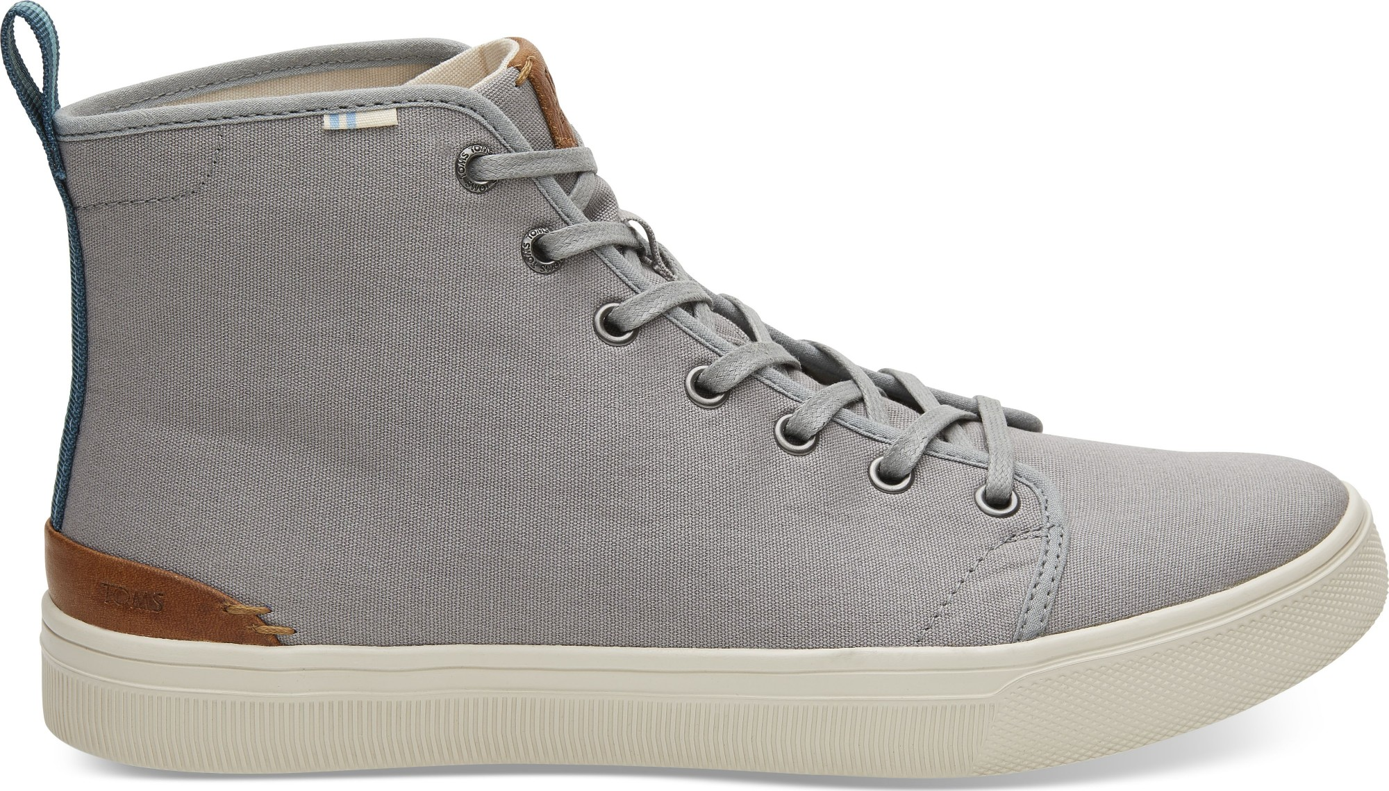 TOMS Canvas Men's Trvl Lite High Sneaker Neutral Gray 42