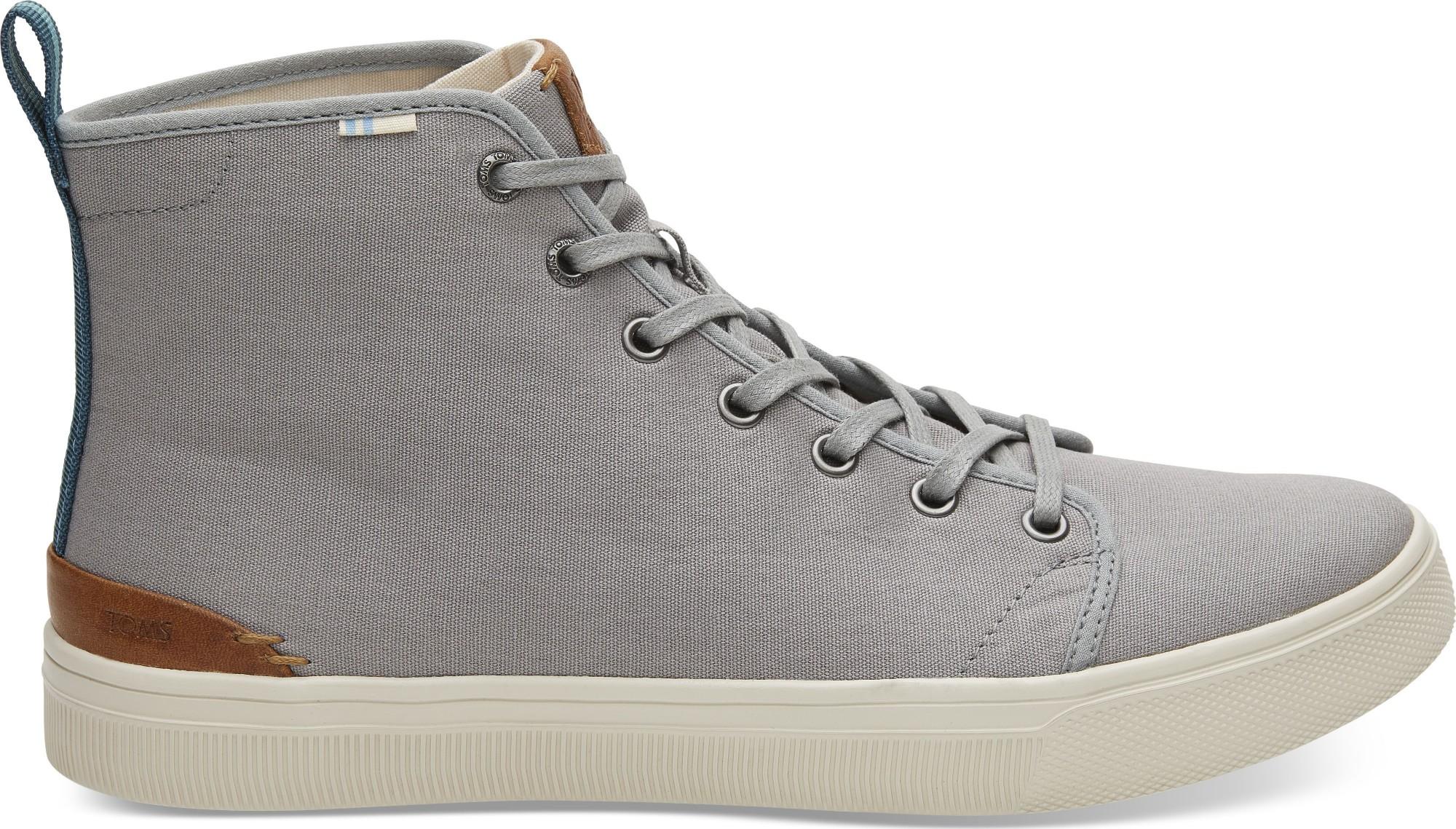 TOMS Canvas Men's Trvl Lite High Sneaker Neutral Gray 45