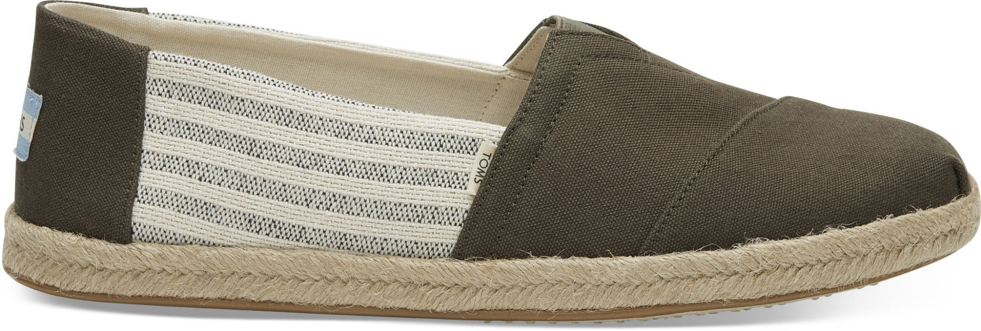 TOMS Canvas Ivy League on Rope Men's Alpargata Tarmac 45