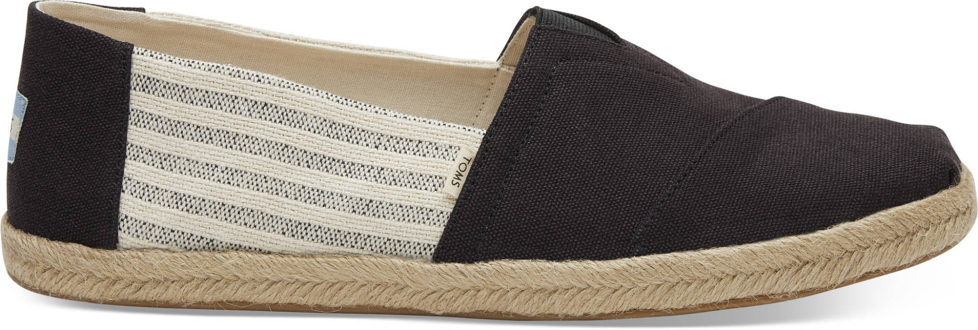 TOMS Canvas Ivy League on Rope Men's Alpargata Black 46