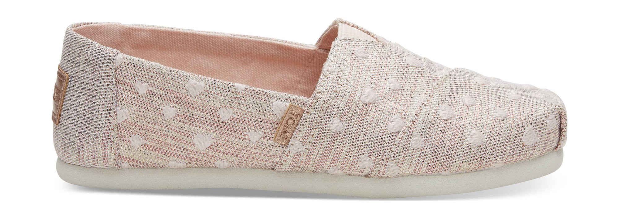 8eda9a59e3b Previous. TOMS Twill Glimmer Embroidery Junior s Alpargata Rose Cloud ...
