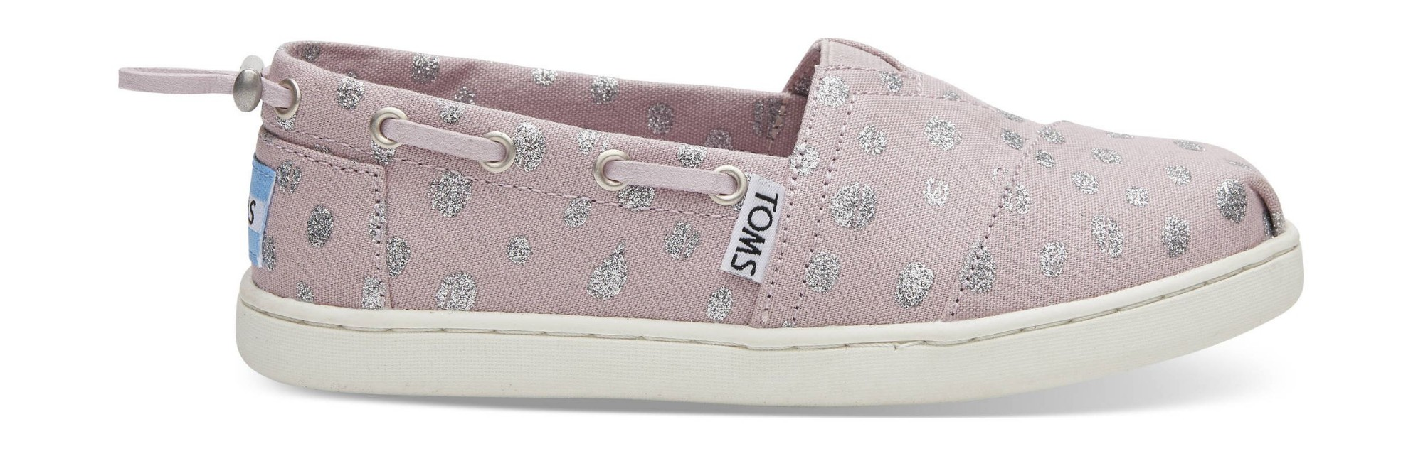 TOMS Metallic Torn Dots Junior's Bimini Burnished Lilac 32,5