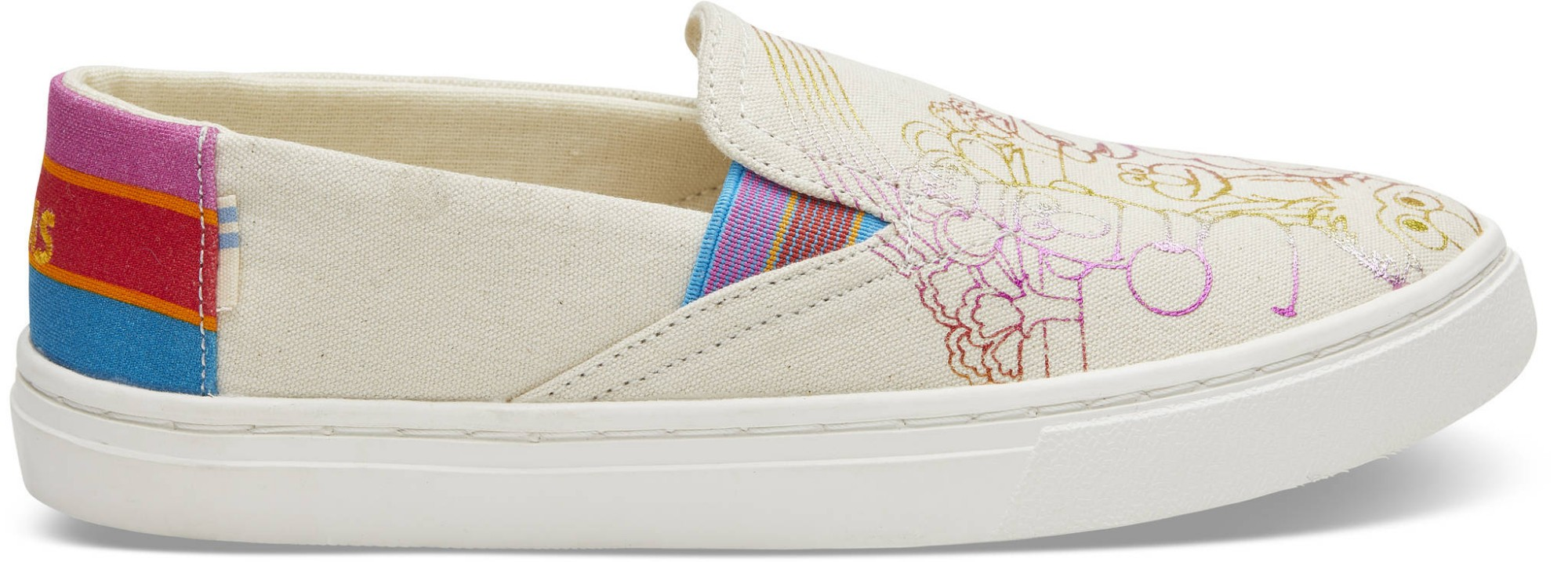 TOMS Sesame Street Foil Junior's Luca Slipon Natural 32,5