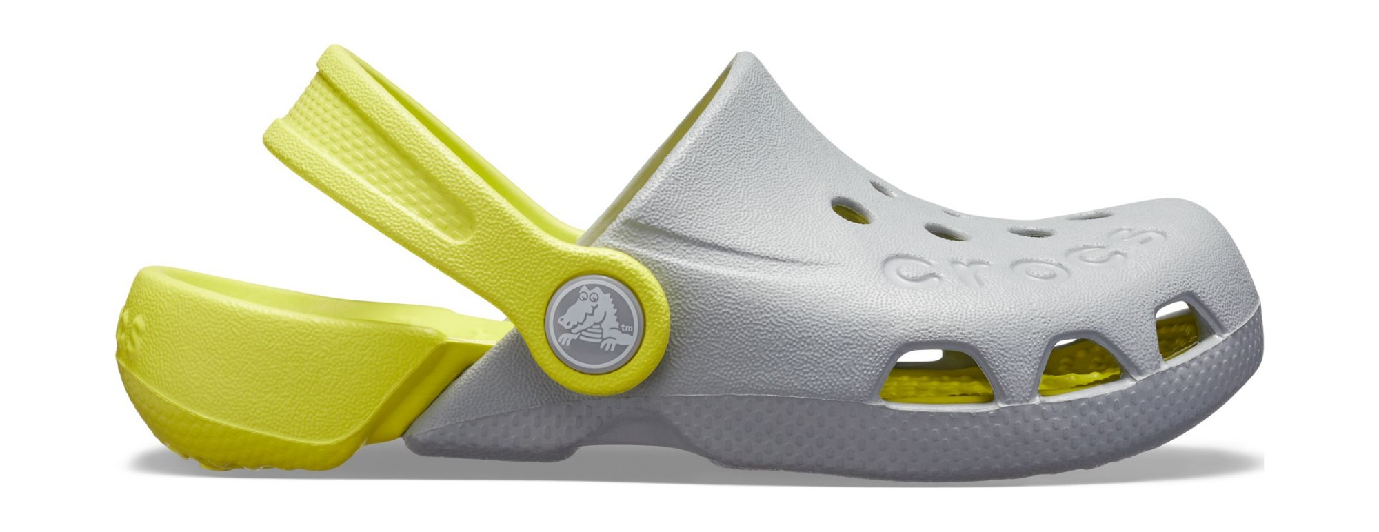 Crocs™ Kids' Electro Light Grey/Citrus 26