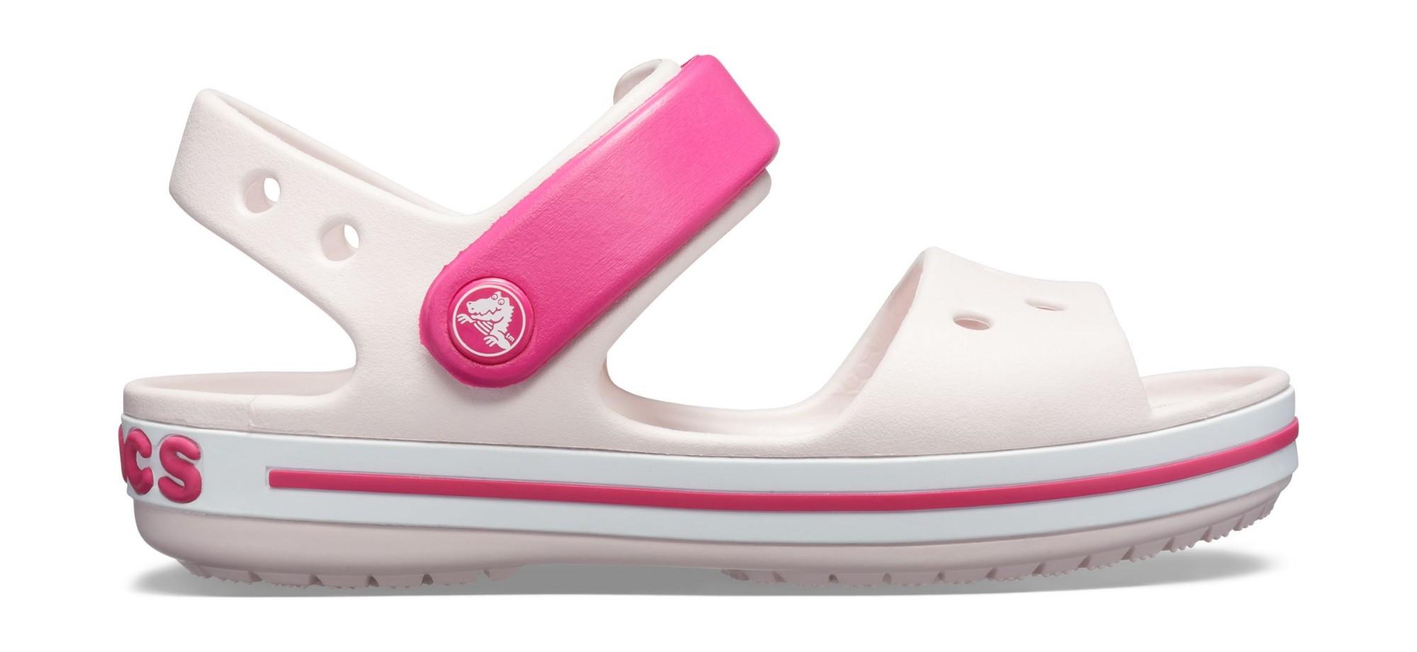 Crocs™ Kids' Crocband Sandal Barely Pink/Candy Pink 32