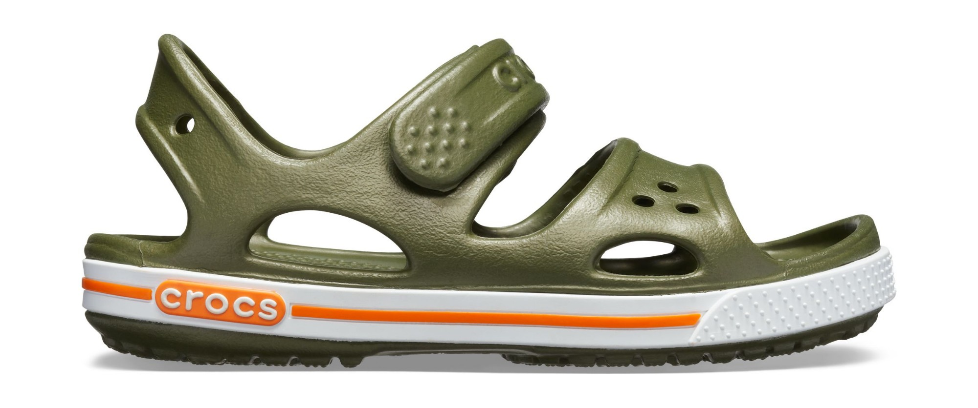 Crocs™ Kids' Crocband II Sandal PS Army Green 22