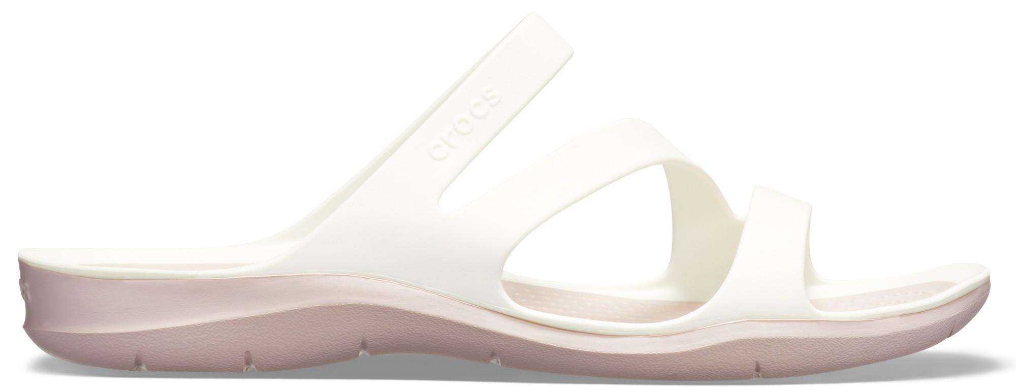 Crocs™ Women's Swiftwater Sandal White/Rose Dust 41