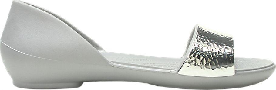 Crocs™ Lina Embellish Dorsay Flat Silver/Silver 38,5