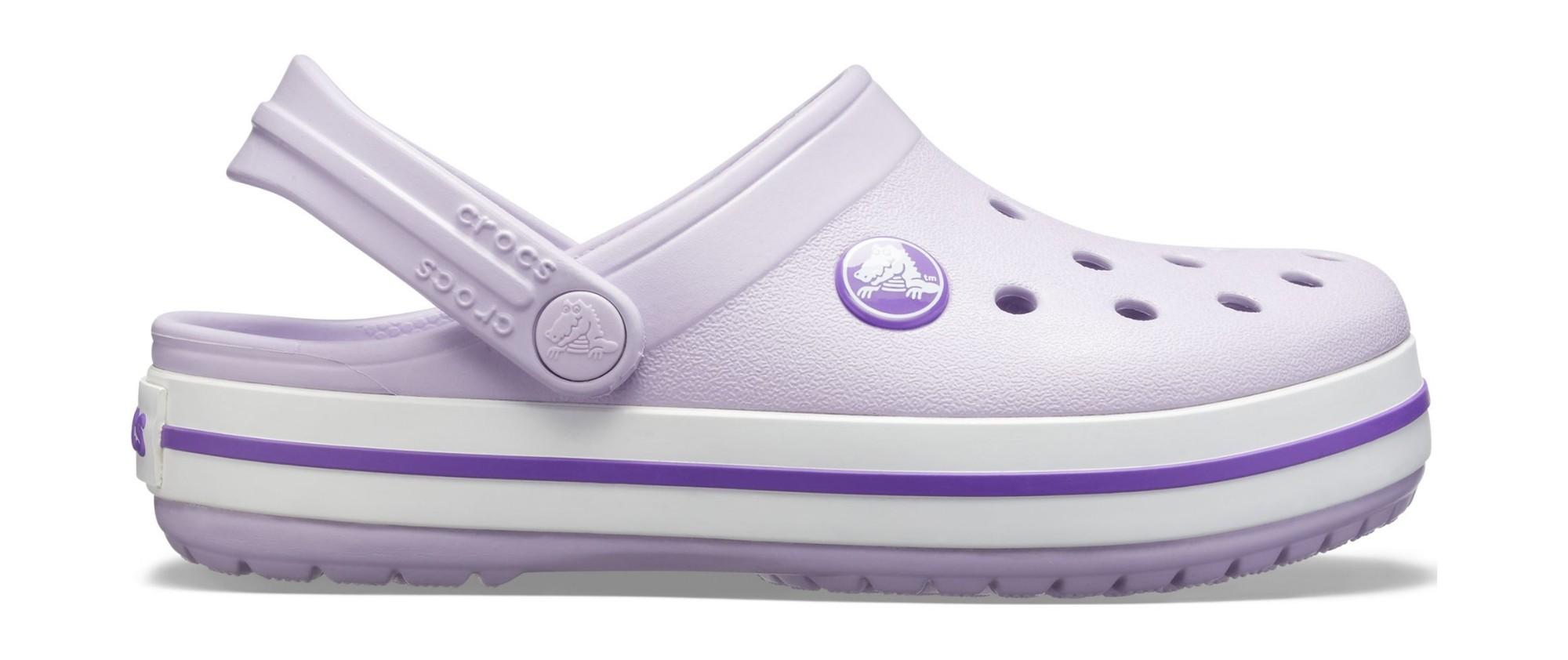 Crocs™ Kids' Crocband Clog Lavender/Neon Purple 23