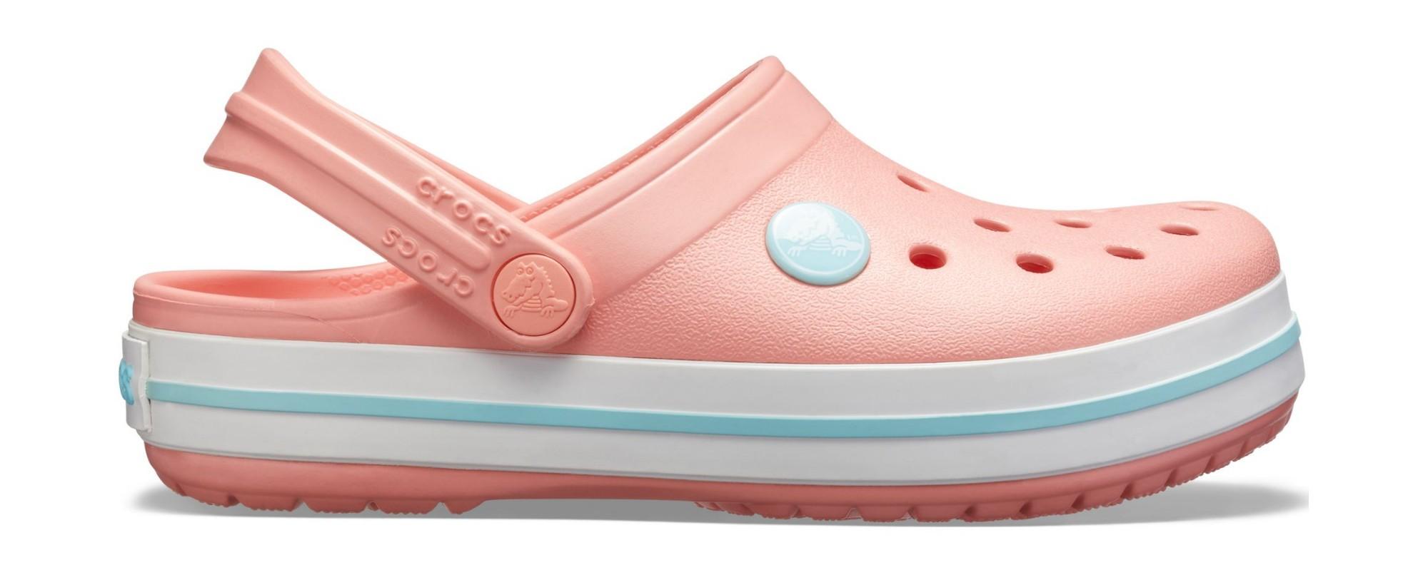Crocs™ Kids' Crocband Clog Melon/Ice Blue 27