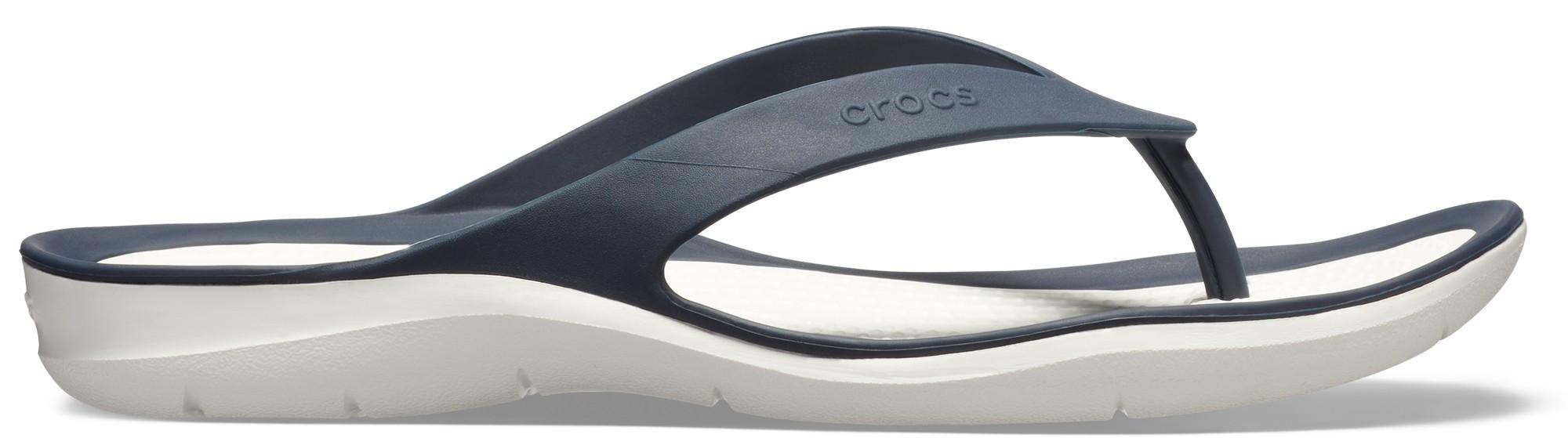 Crocs™ Women's Swiftwater Flip Navy/White 35