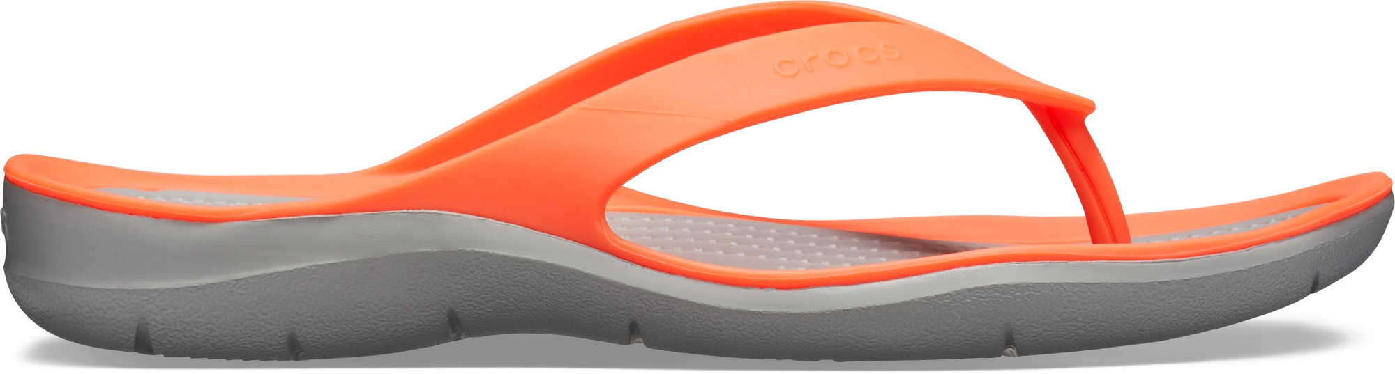 Crocs™ Women's Swiftwater Flip Bright Coral/Light Grey 36,5