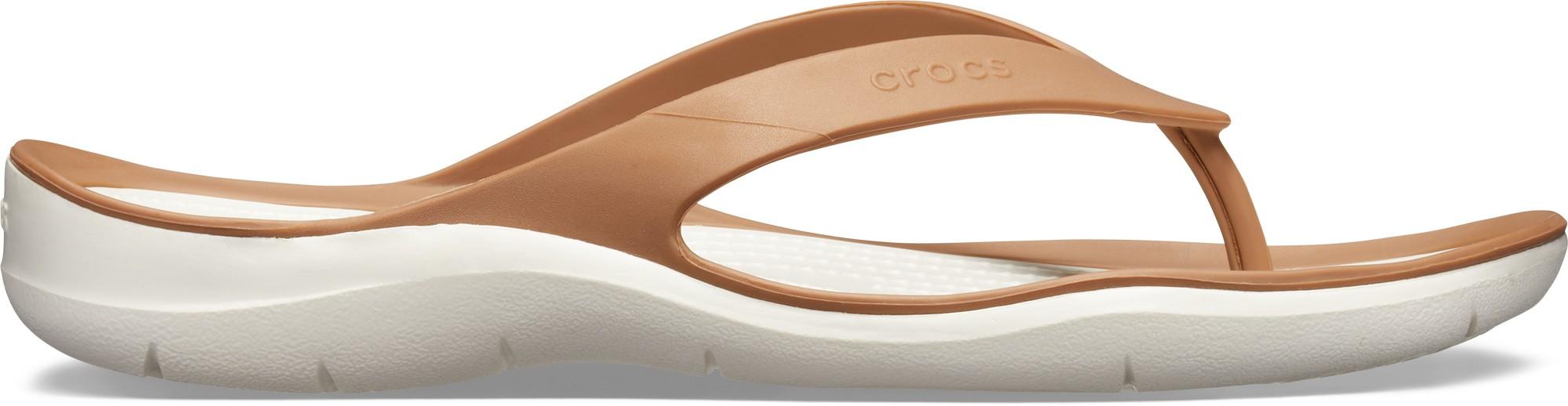 Crocs™ Women's Swiftwater Flip Bronze/Oyster 41