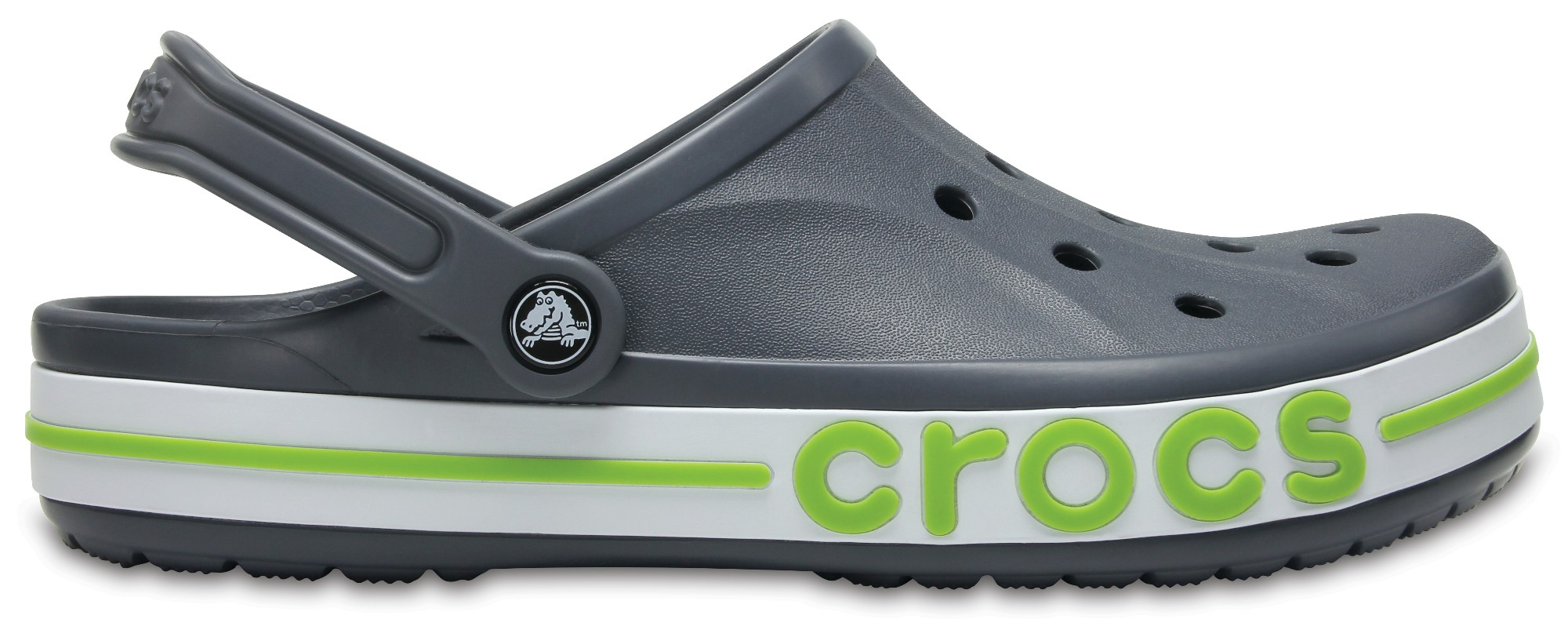 Crocs™ Bayaband Clog Charcoal/Volt Green 47,5