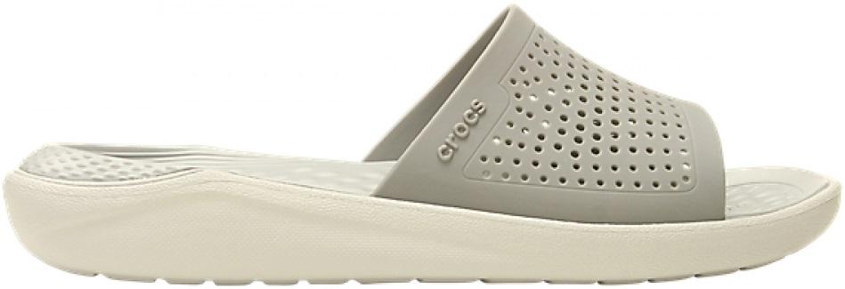 Crocs™ LiteRide Slide Smoke/Pearl White 41