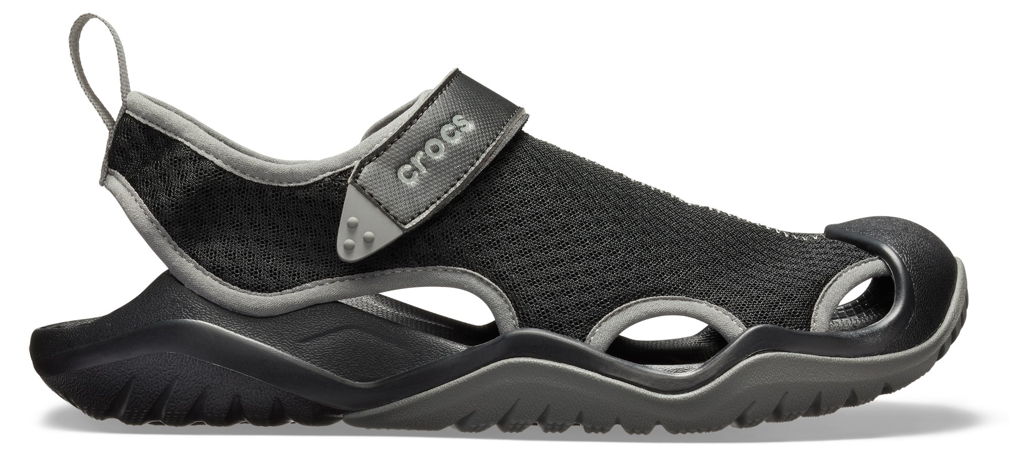 Crocs™ Swiftwater Mesh Deck Sandal Men's Black 41