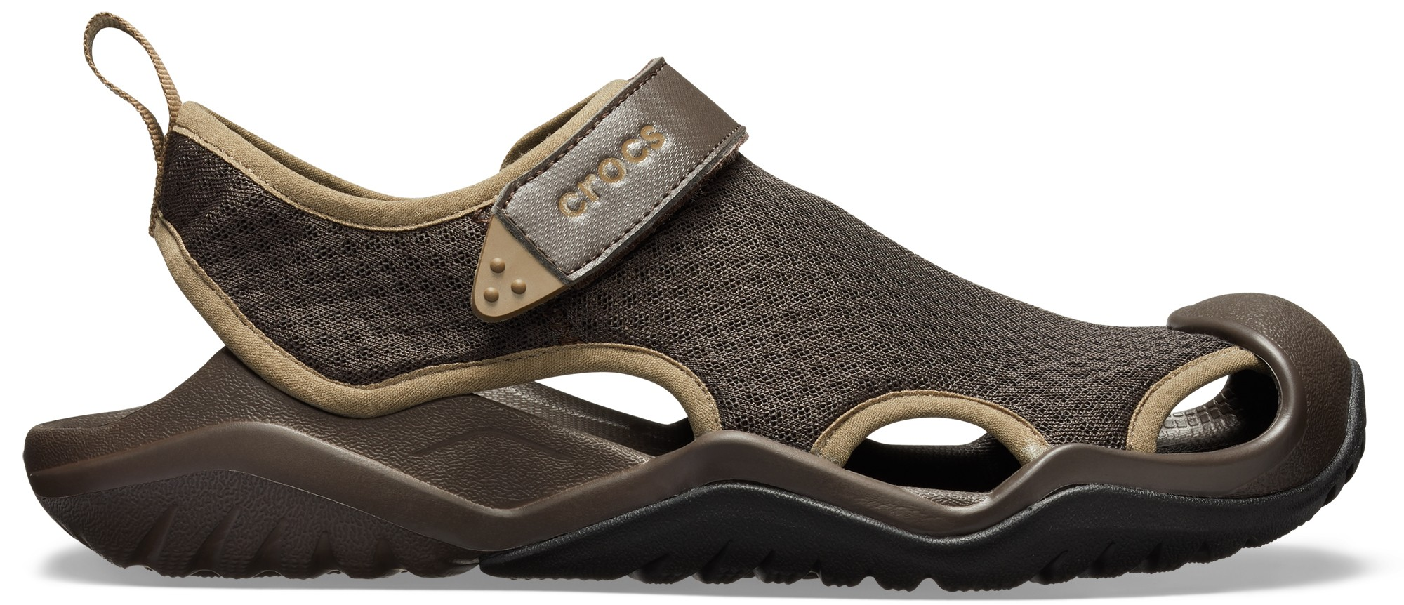 Crocs™ Swiftwater Mesh Deck Sandal Men's Espresso 43,5