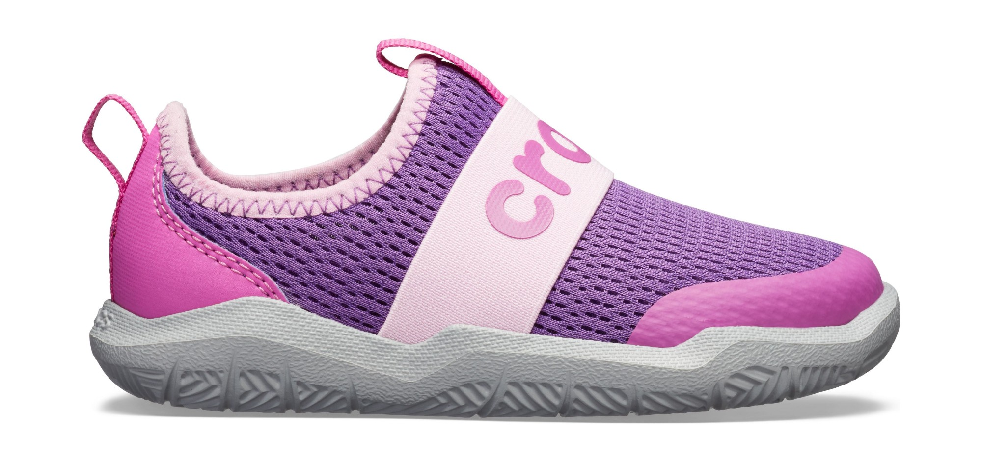 Crocs™ Swiftwater Easy-On Logo Shoe Kid's Amethyst/Vibrant Violet 33,5