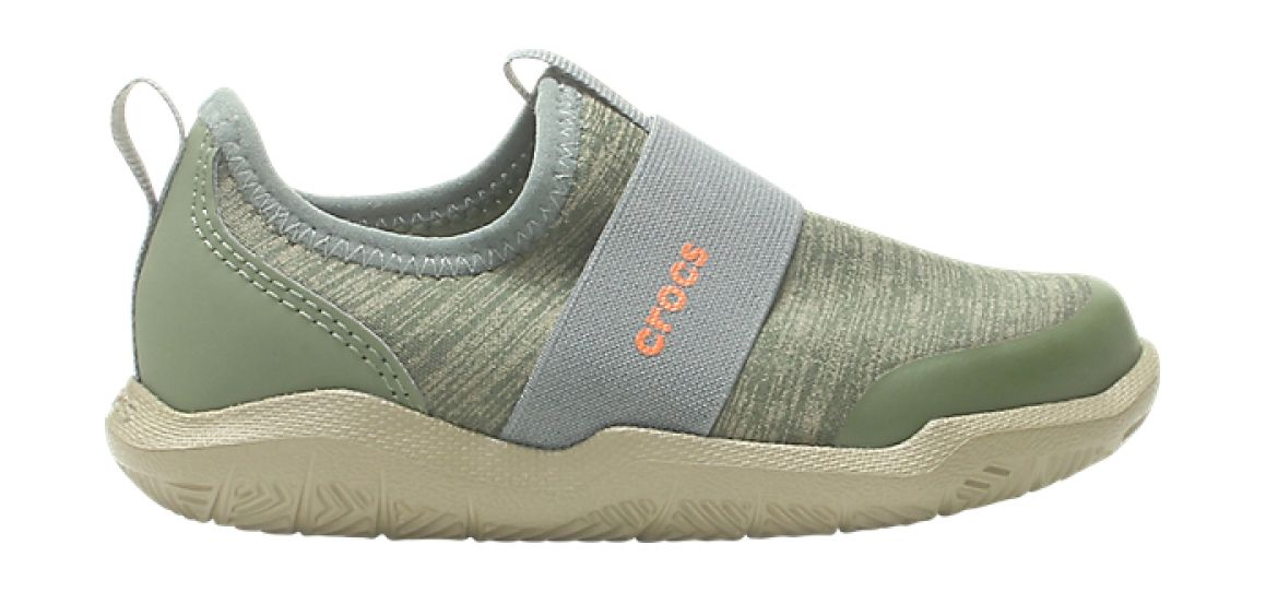 Crocs™ Kids' Swiftwater Easy-On Heathered Shoe Army Green 30
