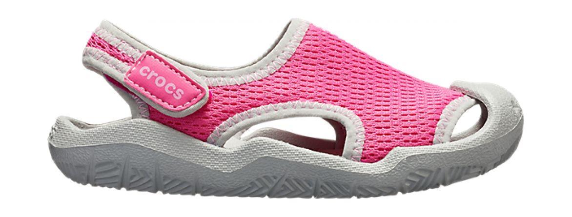 Crocs™ Swiftwater Mesh Sandal Kid's Candy Pink 28