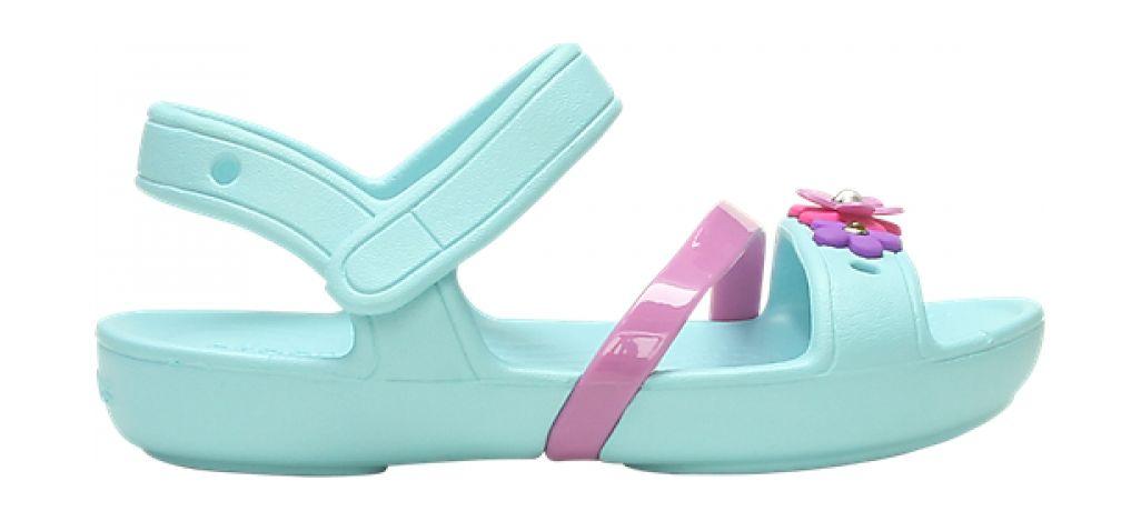 Crocs™ Lina Charm Sandal Kid's Ice Blue 29