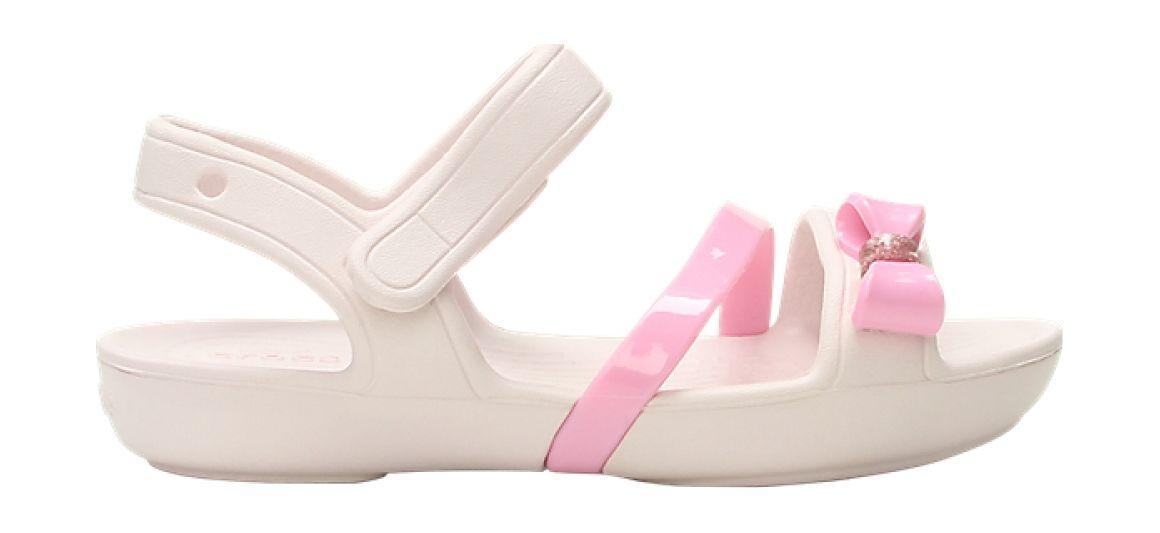 Crocs™ Lina Charm Sandal Kid's Barely Pink 30