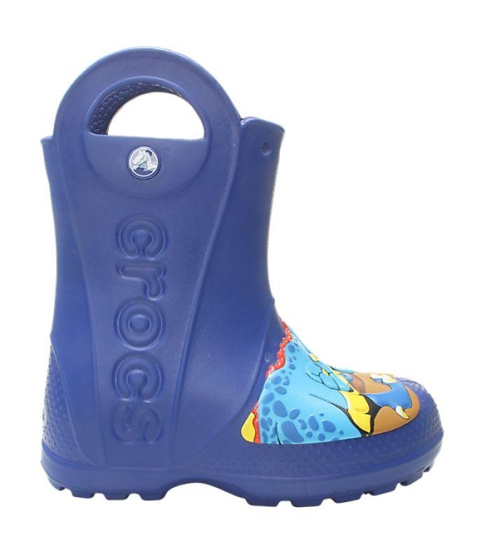 Crocs™ Funlab Dino Rain Boot Kid's Blue Jean 32
