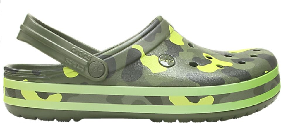 Crocs™ Crocband Seasonal Graphic Clog Army Green/Citrus 41