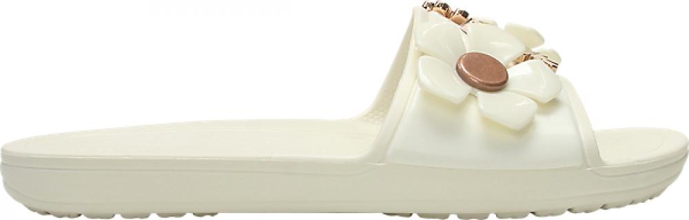 Crocs™ Sloane Metal Blooms Slide Women's Multi/Oyster 36,5