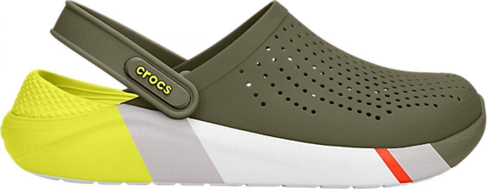 Crocs™ LiteRide Colorblock Clog Army Green/White 45,5