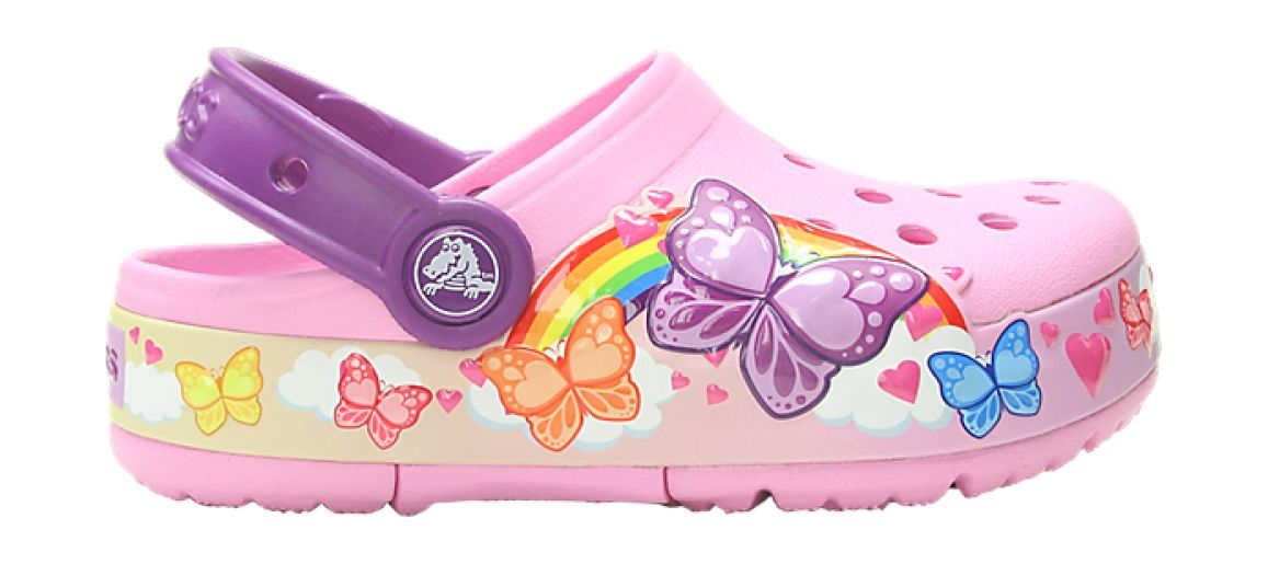 Crocs™ CFL Butterfly Band Lights Clog Kid's Carnation 32