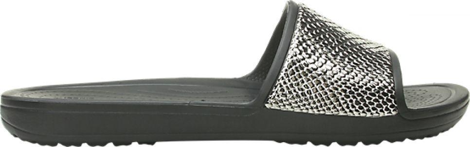 Crocs™ Sloane Metal Text Slide Women's Gunmetal/Black 38,5