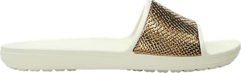 Crocs™ Sloane Metal Text Slide Women's Bronze/Oyster 38,5
